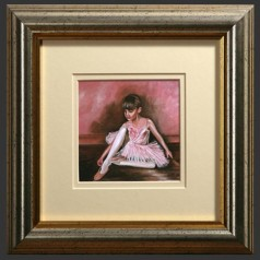 White, Pink & Antique Silver Picture Frames
