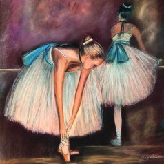 Ballerina's with blue ribbons - GC9